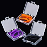Set of 3 Silicone Children's Glasses Neck Retainers Spectacle Safety Strap Cord Holder Slip Sleeve (Black ,Purple ,Orange)