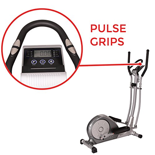 Magnetic Elliptical Trainer with Adjustable Resistance, Hand Pulse Sensors by Sunny Health & Fitness – SF-E3608 by Sunny Health & Fitness (Image #4)