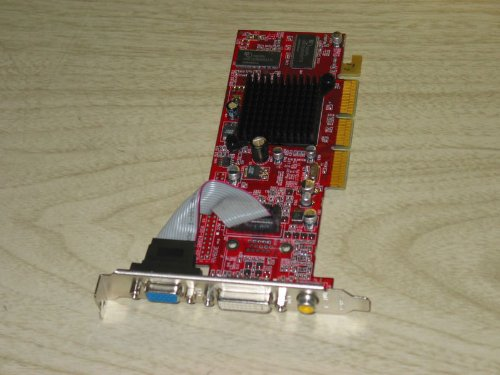 32mb Agp Video Card (ATI Radeon 7000 64MB DVI VGA TV-Out AGP Video Card D33053 RV6D-B3-64M)