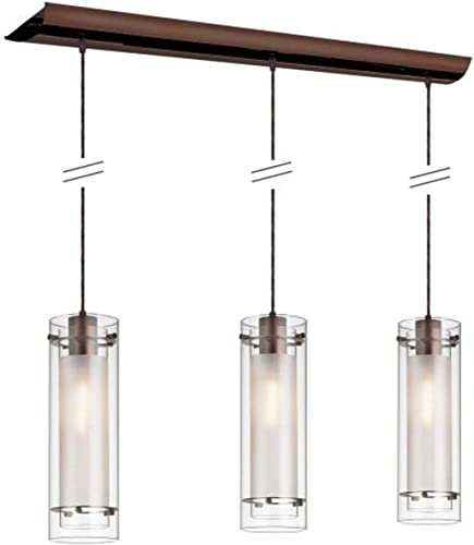 Dainolite 22153-CF-OBB 3-Light Pendant-Clear Gla