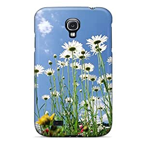 Premium Durable Flowers Sky Glade Fashion Tpu Galaxy S4 Protective Case Cover