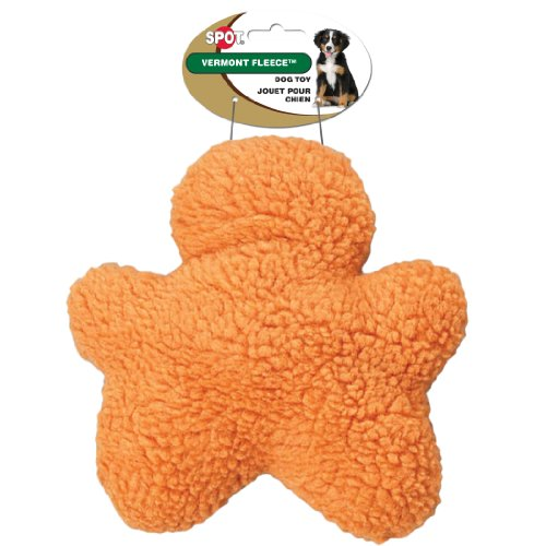 Ethical Pet Vermont Fleece Dog Toy, 8-Inch, Chewman, Assorted