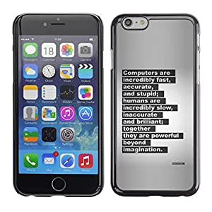 Plastic Shell Protective Case Cover || Apple iPhone 6 Plus 5.5 || Letter Quote Inspiring @XPTECH