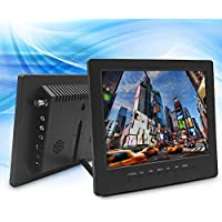 TPEKKA 8 inch 800x600 TFT LCD 4:3 Color Video Portable Monitor Screen for PC CCTV Computer Security Camera System Mini monitor Industrial-grade Easy-to-use