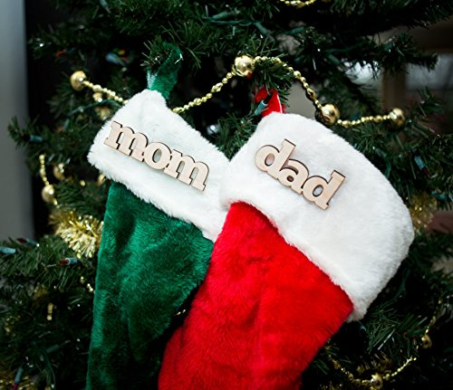 Wooden Names for Stocking, Christmas Stock Name Cutout Pin Kids Family Personalized Stocking Decor for Holidays, Rustic Chic -
