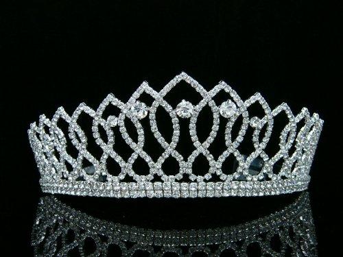 Pageant Queen Rhinestones Crystal Bridal Wedding Prom Tiara Crown -