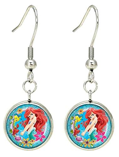 Little Mermaid Disney Dangle Earrings TV Comics Movies