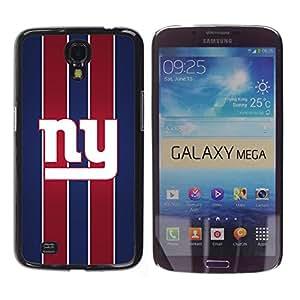 Nueva York - Metal de aluminio y de plástico duro Caja del teléfono - Negro - Samsung Galaxy Mega 6.3