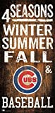 Fan Creations Chicago Cubs 4 Seasons Wooden Sign