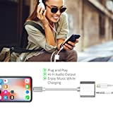Aux Cord for iPhone, Lcueguk 2 in 1 Headphone Audio