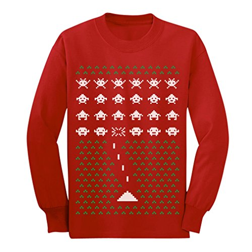 Space Geeky Ugly Christmas Sweater Invaders Xmas T-Shirt