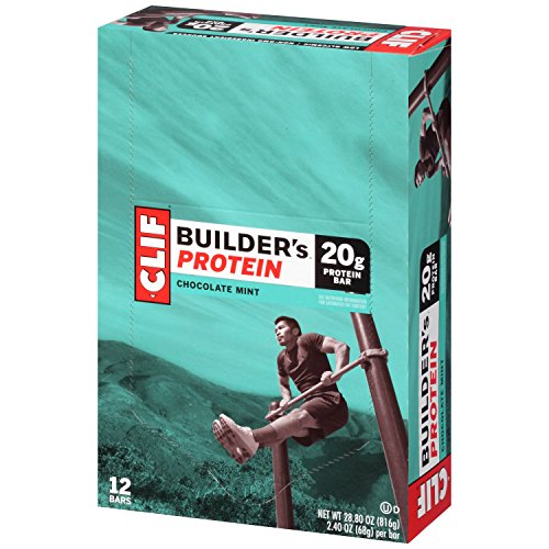 CLIF BUILDER'S - Protein Bar - Chocolate Mint - (2.4 Ounce Non-GMO Bar, 12 (Clif Builders Bar Chocolate)
