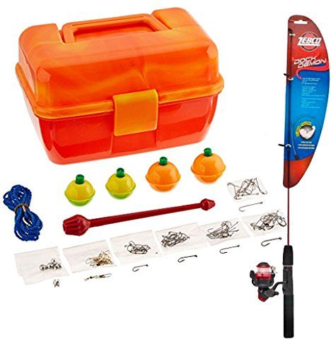 Bundle Includes Zebco Fishing Dock Demon Spinning Combo and South Bend Worm Gear Tackle