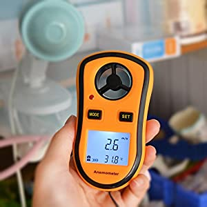 STree Digital Anemometer LCD Digital Wind Speed Meter Gauge Temperature Measure (GM8908)