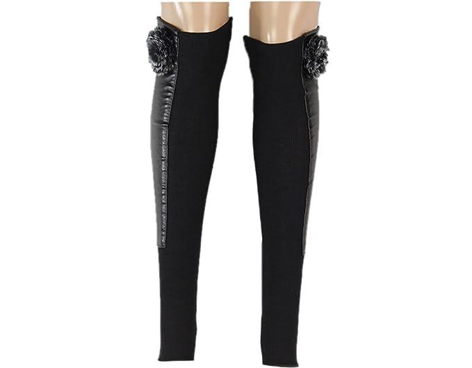 BONAMART - Calcetines hasta la rodilla - para mujer Negro Plush Talla única