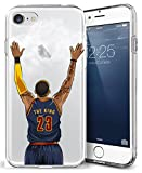 iPhone 7 Case, Chrry Cases Ultra Slim [Crystal Clear] [NBA Player] Soft Transparent TPU Case Cover for Apple iPhone 7 (4.7) - KING JAMES