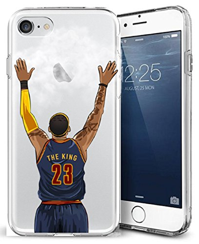 Nba Crystal (iPhone 7 Case, Chrry Cases Ultra Slim [Crystal Clear] [NBA Player] Soft Transparent TPU Case Cover for Apple iPhone 7 (4.7) - KING JAMES)