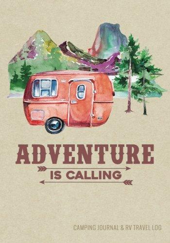 Camping Journal & RV Travel Logbook, Red Vintage Camper Adventure: Road Trip Planner, Caravan Travel Journal, Glamping…