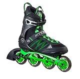 K2 Skate Men's F.I.T. Pro 84 Inline Skates, Black/Green, 6.5