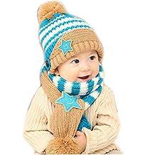 Baby Girls Boys Winter Hat Scarf Two-Piece Set
