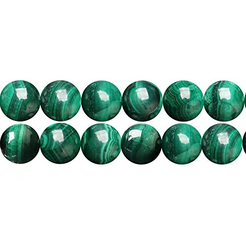 Rare Genuine Gemstone Beads for DIY Jewelry Beading Natural Green Malachite 8mm Spacer Beads Online Sale One Strand 15 Inch Apx 46 Pcs