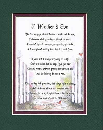 A Mother And Son A Mother's Day Gift Poem Birthday Present F