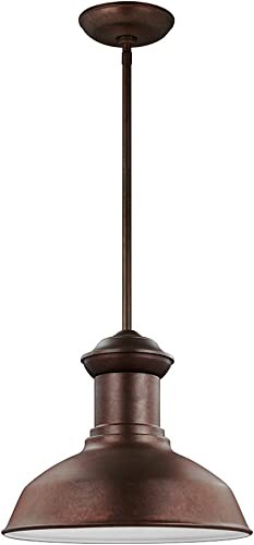 Sea Gull Lighting 6247701-44 Fredricksburg One-Light Outdoor Pendant, Weathered Copper Finish