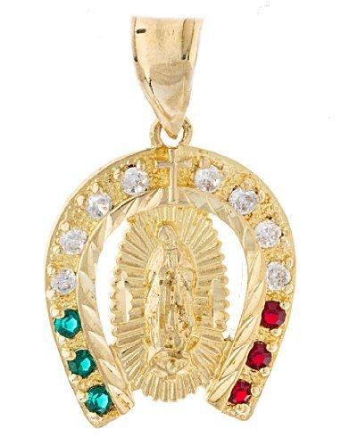 Goldtone Guadalupe Horseshoe Necklace 8O G5YN FF2S