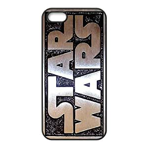 Star Wars I3Y63P0UR funda iPhone 5 5s caso funda WSSI4O negro