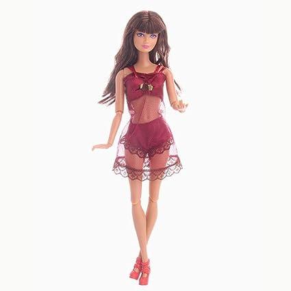 Xiton Barbie muñeca Traje de baño Traje de baño Bikini Ropa Ropa Interior Pijamas fijados para