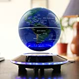 LYNICESHOP 6'' Magnetic Levitation Floating Globe Anti Gravity Rotating World Map with LED Light for Children Educational Gift Home Office Desk Decoration