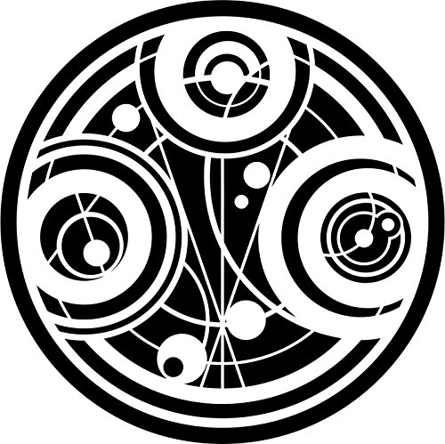 Doctor Who Gallifrey Time Lord Seal Of Prydonian, White, 6 Inch, Die Cut Vinyl Decal, For Windows, Cars, Trucks, Toolbox, Laptops, Macbook-virtually Any Hard Smooth Surface ()