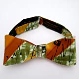 100% Silk Hand-Painted Hand-Made Men's Self Tie Bow Tie ''Zippity Do Da'' Art to Wear by Murphyties