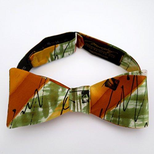 100% Silk Hand-Painted Hand-Made Men's Self Tie Bow Tie ''Zippity Do Da'' Art to Wear by Murphyties by Murphyties Inc.