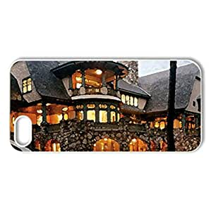 gorgeous - Case Cover for iPhone 5 and 5S (Houses Series, Watercolor style, White)