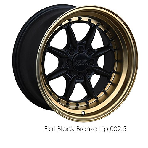 XXR 2 15 Black Bronze Wheel / Rim 4×100 & 4×4.5 with a 20mm Offset and a 73.1 Hub Bore. Partnumber 25580863