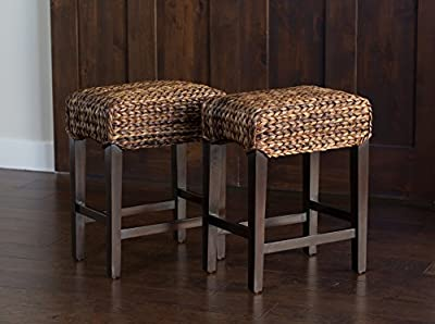 Bird Rock Seagrass Backless Barstool (Counter Height)