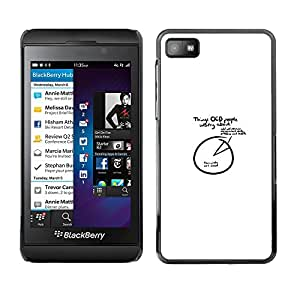 CASECO - Blackberry Z10 - OCD People - Delgado Negro Plástico caso cubierta Shell Armor Funda Case Cover - TOC Gente