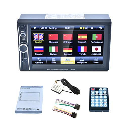 7 Double 2 Din Touchscreen In Dash GPS Car Stereo Radio Mp3 Player FM Aux,Tuscom by Tuscom