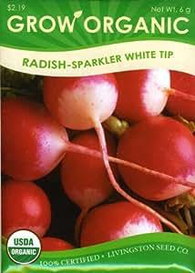 Livingston Seed Co. 7690 Radish - Organic Sparkler Seed Packet