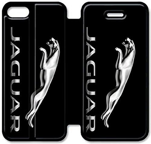 Flip étui en cuir PU Stand pour Coque iPhone 5 5S, bricolage 5 5S Coque Case étui de téléphone cellulaire en cuir Jaguar Y4O1ND Unique Retour Coque iPhone
