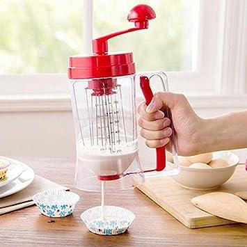 Dispensador de masa de la crepe Upspirit Manual mezclador de plástico mezclador de masa de galletas