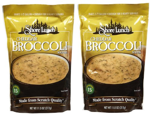 Shore Lunch Cheddar Broccoli Soup Mix, 11 oz, 2 pk