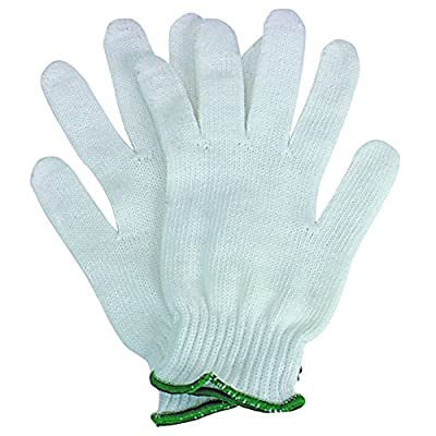 Cotton Knit Gloves, Polypropylene Coated with Elastic Cuffs, 12 gloves, 6 Pair (RGL-61987)