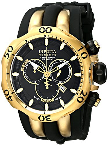 Invicta Men's 10833 Venom Reserve Chronograph Black Dial Watch Invicta Reserve Venom