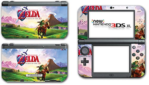 Legend of Zelda Link Ocarina 3D of Time Epona Navi Video Game Vinyl Decal Skin Sticker Cover for the New Nintendo 3DS XL LL 2015 System Console