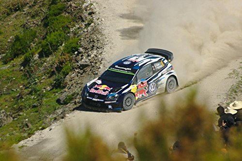 LAMINATED 36x24 Poster: Rally Volkswagen Vw Polo Race Car Wrc Portugal 2015 (Wrc Race)