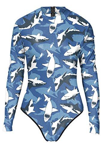 Thenice - Traje de una pieza - para mujer Jaws