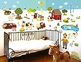 I-love-Wandtattoo WAS-10011 Wall stickers Kids Farm animals Sticker Wall Decal Boy Girl