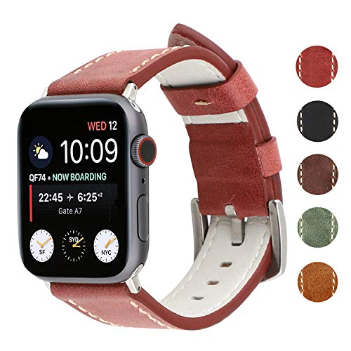 90c9d418b4895 WONMILLE Compatible for Apple Watch Band 40mm 38mm,Cowhide Leather ...